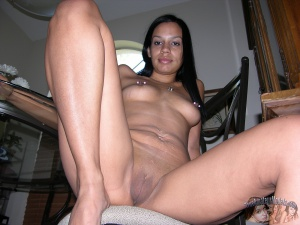 18yo Amateur Black Girl with a Shaved Pussy POV
