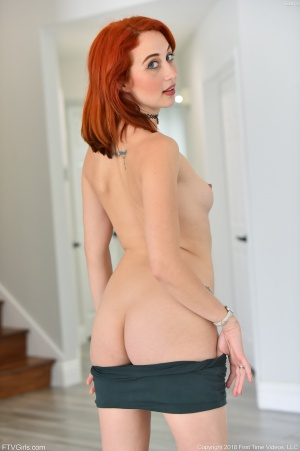 Cute Young Redhead with Thick White Ass Cheeks
