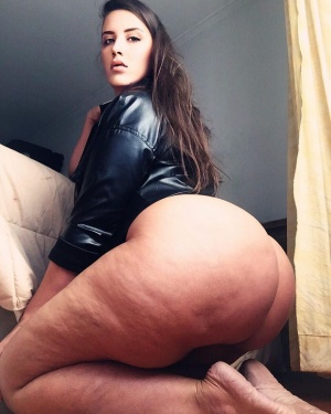 Brunette PAWG with a Giant White Booty