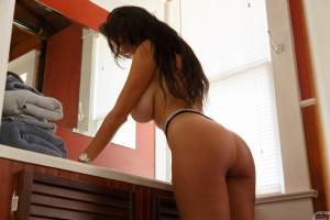 Amateur Brunette with a Perfect Big Ass