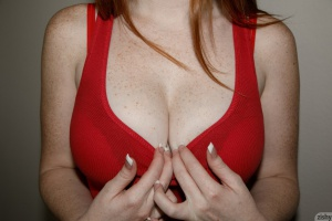 Amateur Teen Redhead with Huge Tits