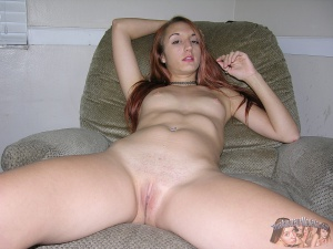Amateur Teen with a Shaved Pussy Spreading