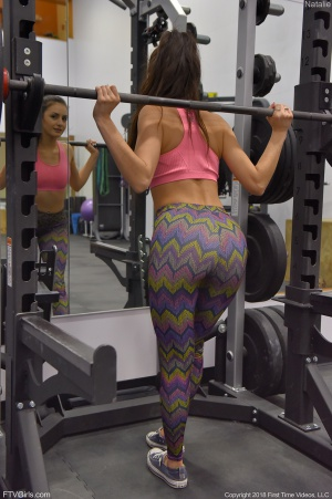 Big Ass Gym Booty in Tight Spandex Leggings