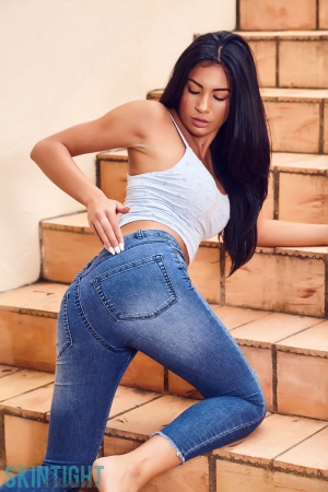 Cute Asian Teen with a Big Ass in Jeans