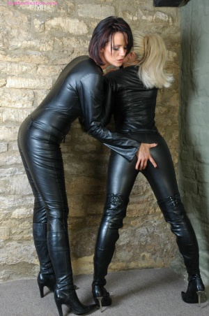 Huge Ass Fingering in Leather Leggings