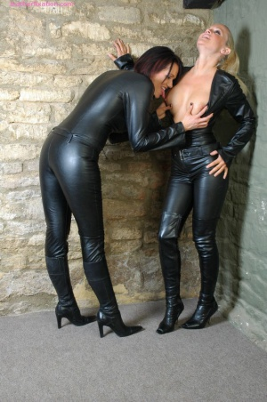 Big Booty Moms in Leather Catsuits