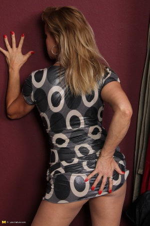 Mature Bubble Butt in a Tight Minidress