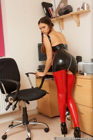 Big Ass Teen in Latex Leggings