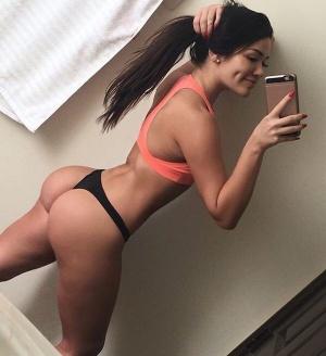 Athletic Thong Booty Selfie