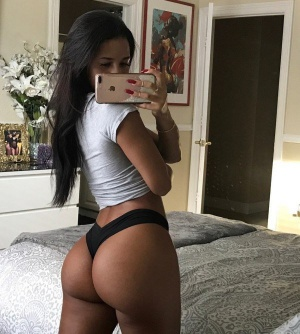 Bubble Butt Babe with Gigantic Ass Cheeks