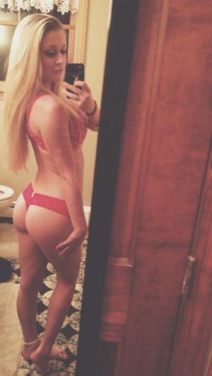 Bubble Ass Blonde Thong Booty