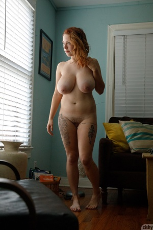 Big Ass White Redhead with Huge Pierced Tits