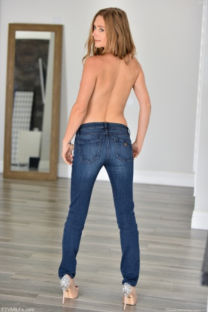 Tight Ass in Skinny Jeans and High Heels