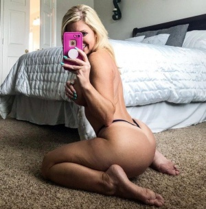 Athletic Blond with a Gigantic Thong Booty