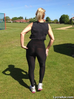 Big Ass Gym Booty in Spandex Pantyhose