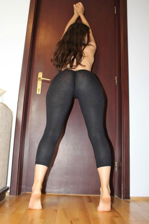 Nice Tanned Ass in Spandex Yoga Pants