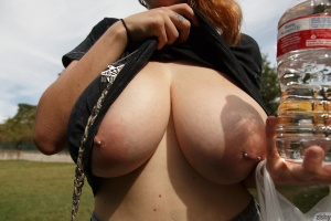 Biggest Natural Boobs with Pierced Nipples