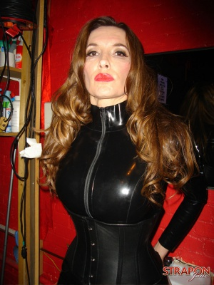 Busty Mature Cougar in Super Tight Latex