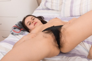 Extremely Hairy Pussy on a Cute Bubble Butt Teen