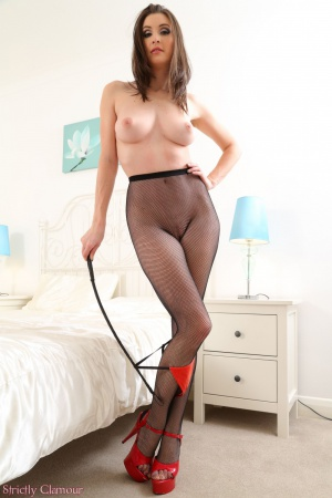 Perfect Tits and Ass in Fishnet Stockings