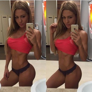 Athletic Gym Booty Selfies