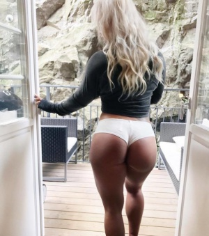 Perfect White Ass in Mini Shorts