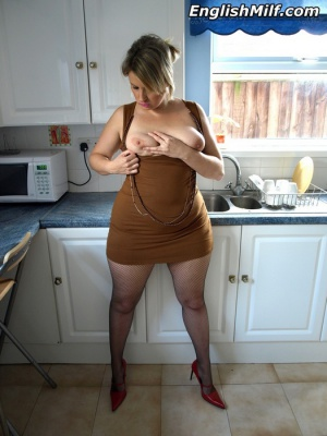 Busty Cougar MILF with a Fat White Ass