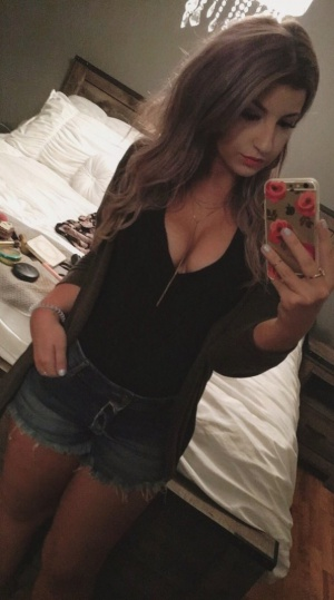 Amateur Teen Selfie in Denim Shorts