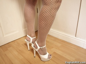 Candid MILF in Fishnets and High Heels