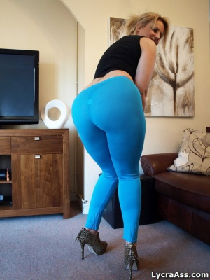 Fat Ass Booty in Spandex and High Heels