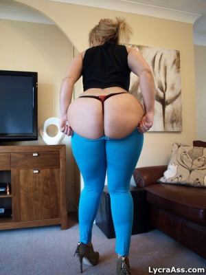 Fat Ass Thong Booty in Tight Spandex