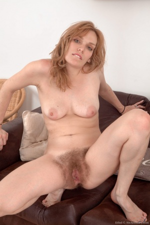 Curvy Babe with a Very Hairy Blonde Pussy