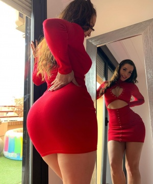 Curvy Brunette with Big Hips and a Thick Ass