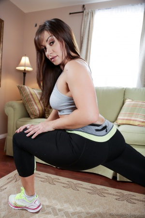 Fat Ass Yoga Instructor in Ripped Spandex Leggings