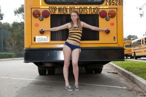 Curvy Teen Amateur in Short Shorts