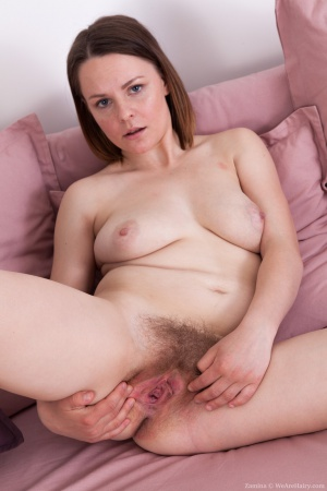 Amateur Hairy Pussy with Legs Spread Wide Open
