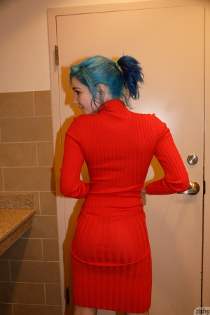 Cute Bubble Butt in a Tight Minidress