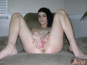 Cute Young Hairy Pussy Spread Wide Open