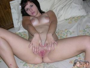 Fat Ass Amateur Wet Pussy Close-up