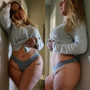 Super Thick PAWG with Stretch Marks