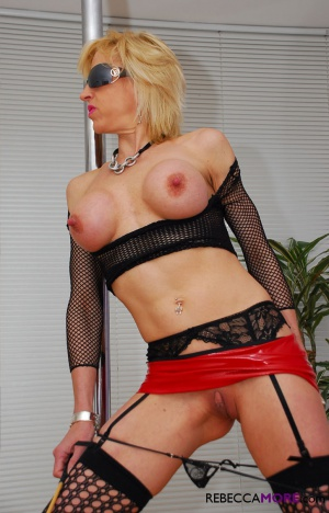 Mature Submissive Slave in a Fishnet Bodystocking