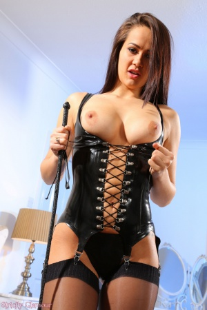 Curvy Hourglass PAWG in a Latex Corset