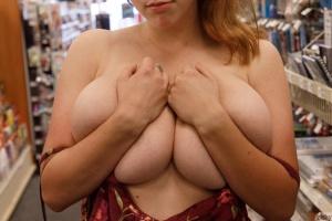 Huge Pierced Tits Flashing in Public