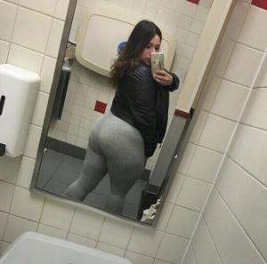 Latina Bubble Butt in Yoga Pants