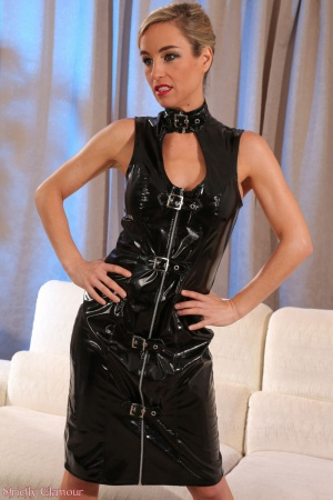 Skinny Mature MILF in a Tight Latex Minidress