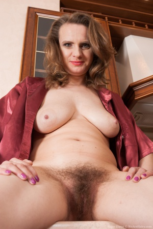 Mature Big Tits and Hairy Pussy Spreading
