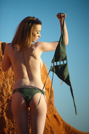 Nude Beach Amateur Ass in a String Bikini