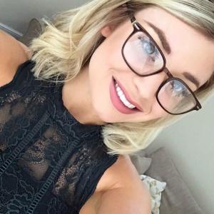 Blonde Teen Glasses Facial
