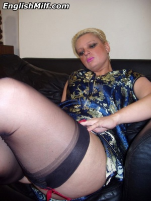 Big Booty Mature Cellulite Thighs in Sheer Garter Stockings