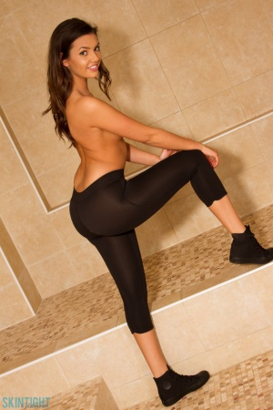 Big Ass Brunette in Tight Yoga Pants